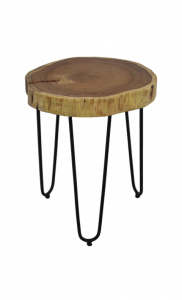 Table d'appoint Live Edge - moyen - acacia / fer