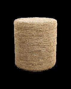 Pouf Malibu - raphia - ø40 cm - naturel
