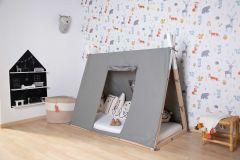 Toile pour lit tipi pour tout-petit 70x140 - gris