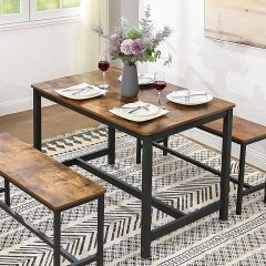 Table Miles 120x75 - brun/noir