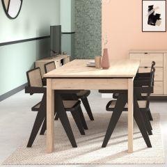 Table à manger extensible Iseka 215x90 - chêne