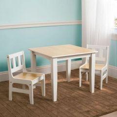 Table et chaises, couleur naturel
