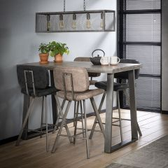 Table de bar Lilly 135x70 - manguier foncé
