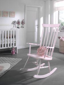 Chaise à bascule Rocky - rose