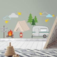 Autocollants muraux Camping