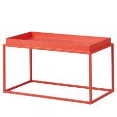 Table basse Club 80x45 métal - orange