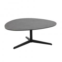 Table basse Bartos 100x95 céramique - noir