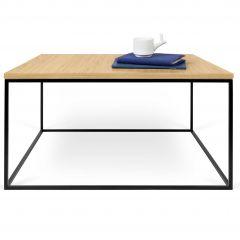 Table basse Gleam 75x75 - chêne/acier