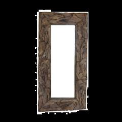 Miroir mural Root 220x120cm - teck/bois de racine