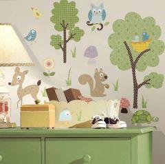 RoomMates stickers muraux - Animaux de la forêt