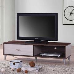 Meuble TV Rumbo 120cm - brun/blanc