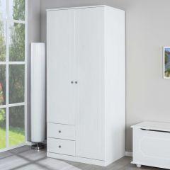 Armoire Martha 93cm avec 2 portes - blanc