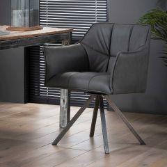 Lot de 2 fauteuils de salle à manger Grio - noir