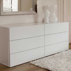 Commode Aurora 6 tiroirs - blanc