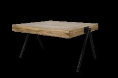 Table basse carrée - moyenne - bois de manguier / fer