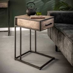 Table d'appoint pour ordinateur portable Turf industriel - acacia