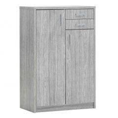 Commode Spacio 2 portes & 2 tiroirs H 110cm - chêne gris