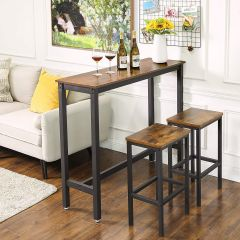 Table de bar Isolde 120x40 industriel - brun/noir