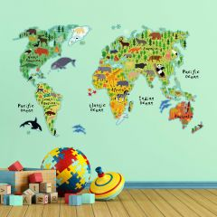 Stickers muraux Carte du monde