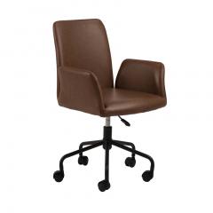 Chaise de bureau Robert similicuir - brun