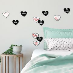 Stickers muraux Real Talk Conversation Hearts