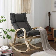 Chaise à bascule Suri - gris/bouleau
