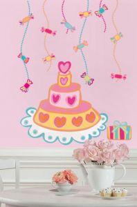 RoomMates stickers muraux - Gâteau d'anniversaire