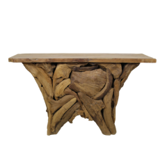 Sidetable Root temple 120x40 - teck