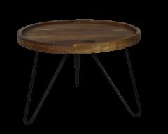 Table basse avec pieds en épingle à cheveux - ø60 cm - cire naturelle