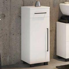 Armoire salle de bains Dusan 30cm à 1 porte & 1 tiroir - blanc