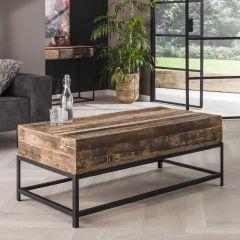 Table basse rectangulaire Lodge 120cm bois recyclé