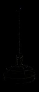 Suspension Couronne - ø60 cm - revêtement époxy noir