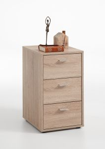 Table de chevet Valerie 3 tiroirs - chêne