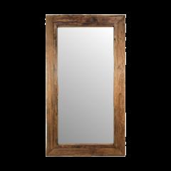 Miroir mural Rustika 200x100cm - bois flotté/teck