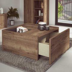 Table basse Frame - chêne foncé