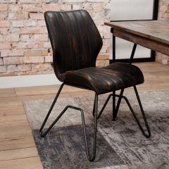 Set de 2 chaises Brix - brun