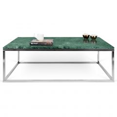 Table basse Prairie - marbre vert/chrome