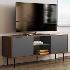 Meuble TV Vibe 150cm - noyer/gris