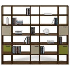 Bibliothèque Pombal 30 niches - noyer