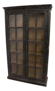 Vitrine Durham - worn black / vintage