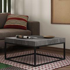 Table basse Petra 75x75 industriel - béton