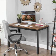 Table de bureau Joris 120cm industriel - brun rustique/noir