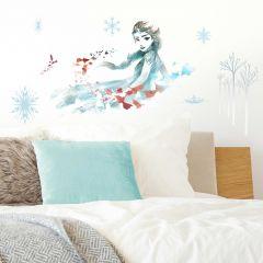 Sticker mural XL La Reine des Neiges 2 Elsa - aquarelle