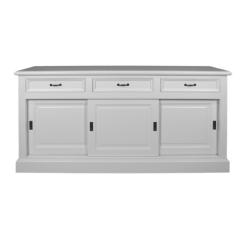 Bahut Provence 180cm à 3 portes & 3 tiroirs - blanc