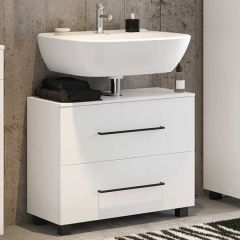 Meuble sous lavabo Dusan 70cm 1 tiroir & 1 porte - blanc