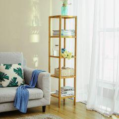 Etagère Jade en bambou 5 niveaux étroit - nature
