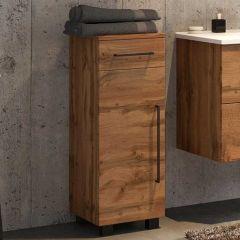 Armoire salle de bains Dusan 30cm à 1 porte & 1 tiroir - chêne wotan