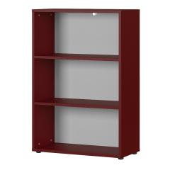 Bibliothèque basse Osmond 80cm - rouge