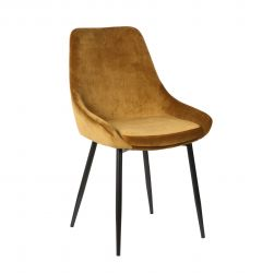 Lot de 2 chaises en velours Mirano - or