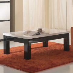 Table basse Roma - noir/blanc